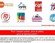 Pour l'emploi public, pour le statut, pour le service public !