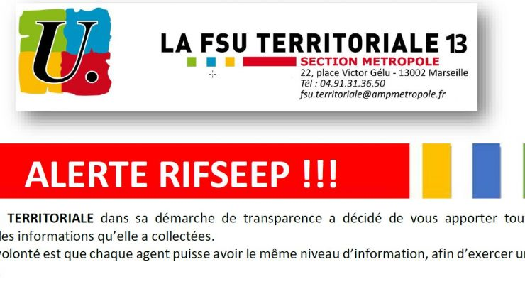 Alerte RIFSEEP !!!