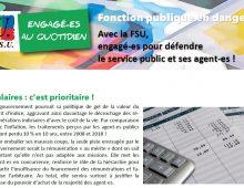 Avec la FSU, engagé-es pour défendre le service public et ses agent-es !