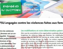 La FSU engagée contre les violences faites aux femmes