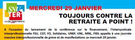 29 janvier 2019: Toujours contre la retraite à points