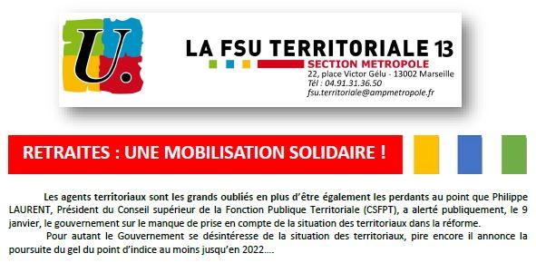 Retraites: une mobilisation solidaire