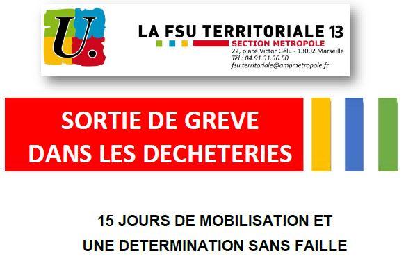 Sortie de grèves dans les déchèteries – Soutien aux agents grévistes